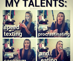 talent, funny, and sarcasm image