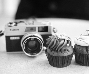 cupcake, camera, and photography image