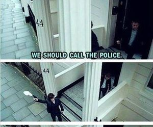 sherlock, funny, and police image