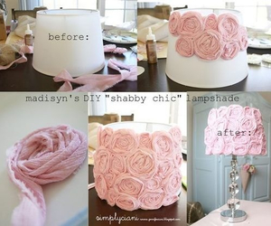 diy, lamp, and pink image