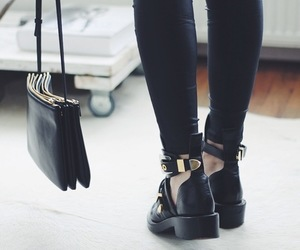 bag, black, and shoes image