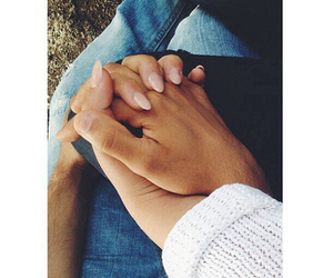 couple, hands, and skin image