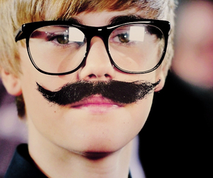 justin bieber, mustache, and justin image
