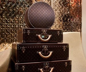 Louis Vuitton, suitcase, and luxury image