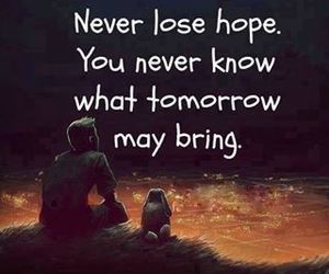 hope, quotes, and tomorrow image