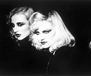black and white, femme fatale, and couple image