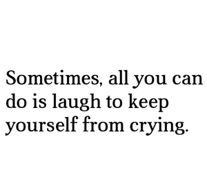 quote, crying, and laugh image