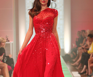 dress, red, and miranda kerr image