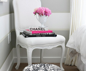 chanel, white, and chair image