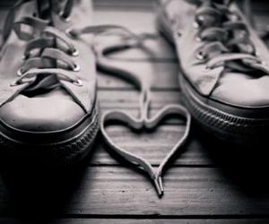 love, heart, and shoes image