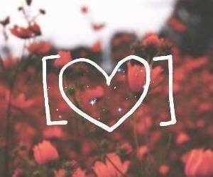 flowers, vintage, and heart image