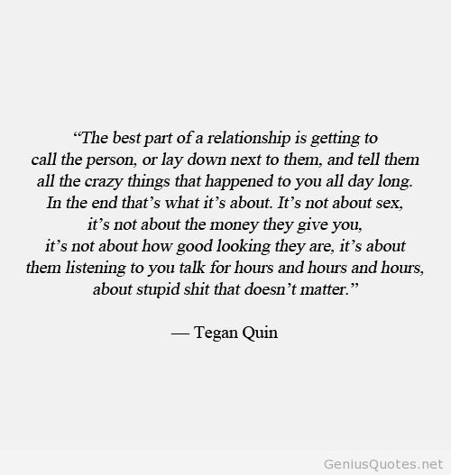 The best part of a relationship quote on We Heart It