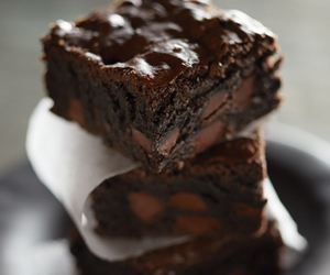 brownie, food, and cake image
