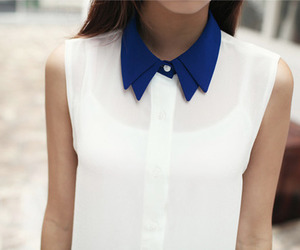fashion, white, and blue image