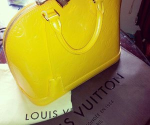 bag, Louis Vuitton, and yellow image