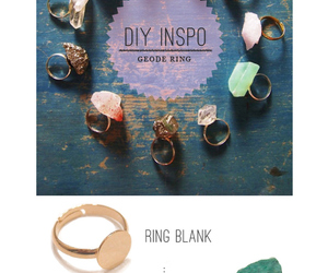 diy, ring, and geode image