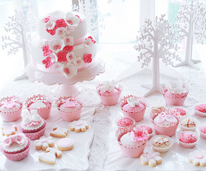 cake, sweet, and cupcakes image