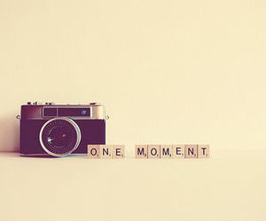 camera, moment, and one image