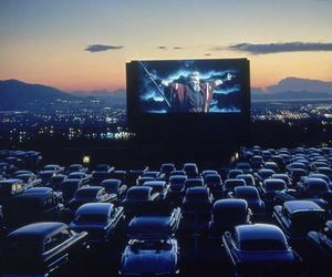car, movie, and drive in image