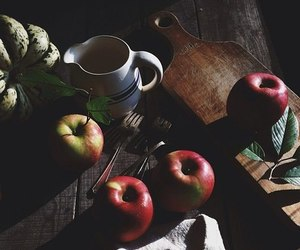apples, beauty, and girl image