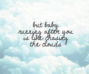 clouds, quotes, and one direction image