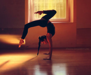 flexibility, girl, and sport image