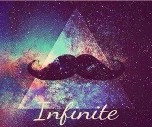 infinite, moustache, and space image