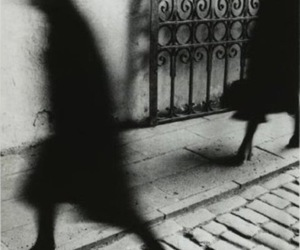 shadow, black and white, and people image