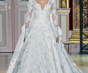 dress, fashion, and bride image