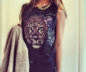 clothes, leopard, and top image