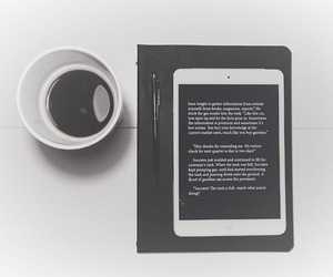 art, black, and coffee image