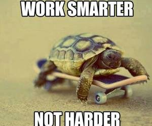 work, smart, and quote image