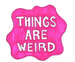 things, weird, and text image