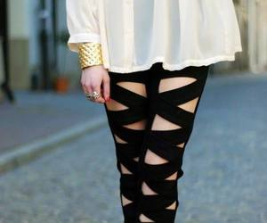 fashion, black, and cross image