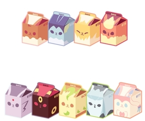 kawaii, milk, and pokemon image