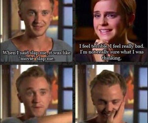 harry potter, tom felton, and emma watson image