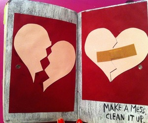 broken, wreck this journal, and heart image