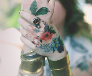 floral, indie, and tattoo image