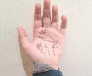 hand, tattoo, and hands image
