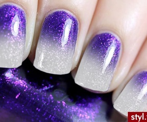 nails, purple, and white image