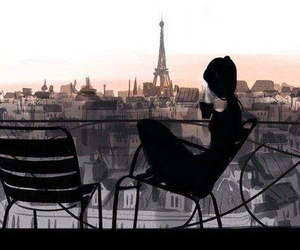 city, coffee, and paris image