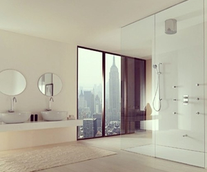 bathroom, design, and highrise image