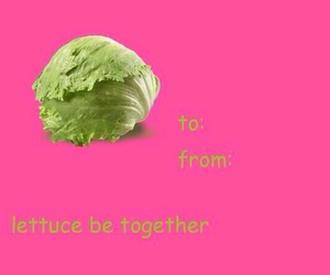 lettuce, card, and funny image