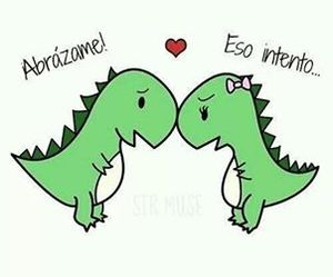 love, dinosaur, and hug image