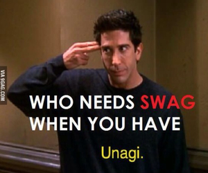 unagi, friends, and ross image