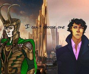 sherlock, loki, and tom hiddleston image