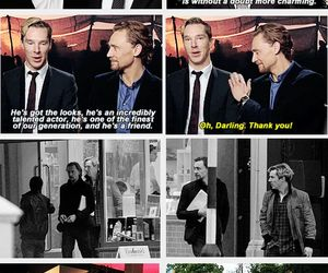 tom hiddleston, benedict cumberbatch, and sherlock holmes image