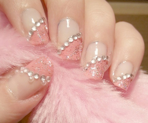 light pink, nails, and pattern image