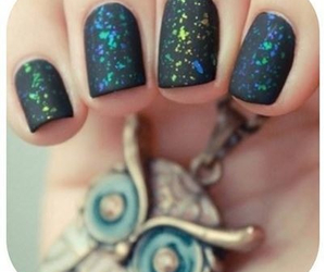 nails, black, and owl image