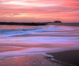 beach, california, and pastel image